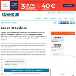 Parts sociales des caisses locales de banques mutualistes