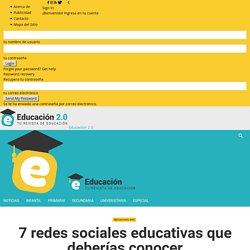 7 redes sociales educativas que deberías conocer - Educación 2.0