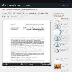 redes sociales, lenguaje y tecnología facebook.pdf - Documents