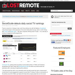 SocialGuide debuts daily social TV rankings