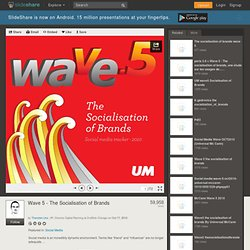 Wave 5 the socialisation of brands - report