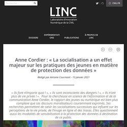 Anne Cordier : « La socialisation a un effet majeur sur les pratiques des jeunes en matière de protection des données »