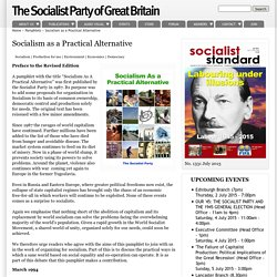 Socialism as a Practical Alternative