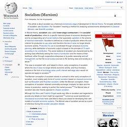 Socialism (Marxism)