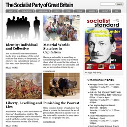 The Socialist Party of Great Britain homepage index