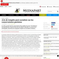Avis de tempête post-socialiste sur les conservatoires parisiens