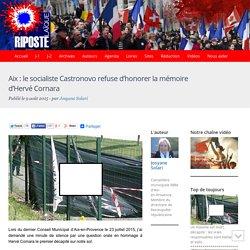 Aix : le socialiste Castronovo refuse d'honorer la mémoire d'Hervé Cornara