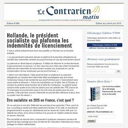 Hollande, le président socialiste qui plafonna les indemnités de licenciement