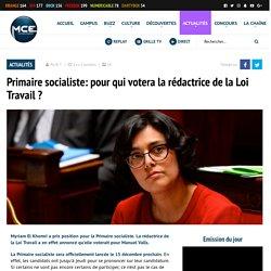 Primaire socialiste: pour qui votera la rédactrice de la Loi Travail ?