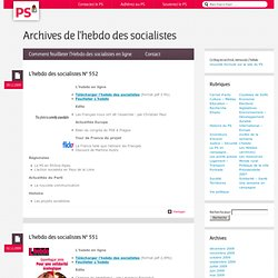 Parti socialiste - site officiel