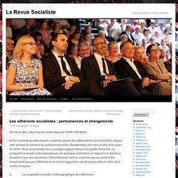 Les adhérents socialistes : permanences et changements