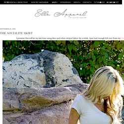 The Socialite Skirt - Elle Apparel by Leanne Barlow