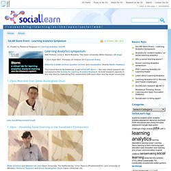 SocialLearn Research Blog » Blog Archive » SoLAR Storm Event – Learning Analytics Symposium