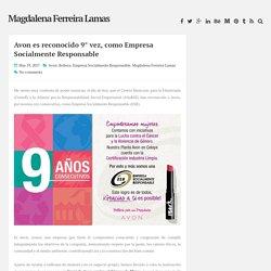Avon es reconocido 9° vez, como Empresa Socialmente Responsable ~ Magdalena Ferreira Lamas