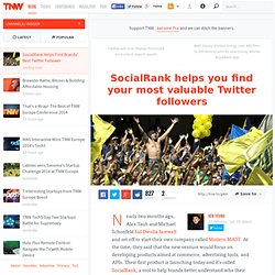 SocialRank Helps Find Brands' Best Twitter Follower