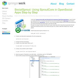 SocialSprout: Using SproutCore in OpenSocial Apps Step by Step
