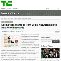 SocialStock Wants To Turn Social Networking Into Real-World Rewards