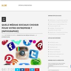 Quels médias sociaux choisir pour votre entreprise ? [INFOGRAPHIE]