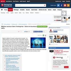 Médias sociaux dans l'entreprise : bilan et nouveaux défis