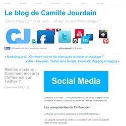 Médias sociaux – Comment mesurer l'influence sur Twitter ?