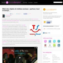 Web des objets et médias sociaux : partout, tout le temps…