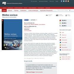 Médias sociaux — Presses de l'Université du Québec