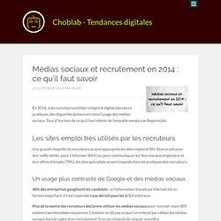 Médias sociaux et recrutement en 2014 : ce qu'il faut savoir