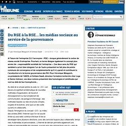 Du RSE à la RSE... les médias sociaux au service de la gouvernance