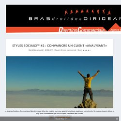 Styles Sociaux™ #2 : Convaincre un client «Analysant»