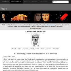 Sociedad y política en la República de Platón: las clases sociales