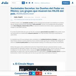 Sociedades Secretas: los Dueños del Poder en México. Los grupos que mueven los HILOS del país.