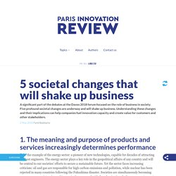 5 societal changes that will shake up business