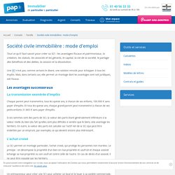 Société civile immobilière : mode d'emploi - Tout savoir sur la société civile immobilière (SCI)