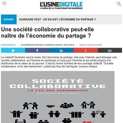 Une société collaborative peut-elle naître de l'économie du partage ?