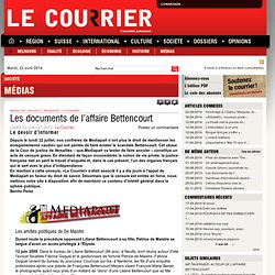Les documents de l'affaire Bettencourt