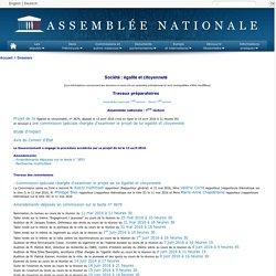 Société : égalité et citoyenneté. Travaux préparatoires. Assemblée nationale. www.assemblee-nationale.fr