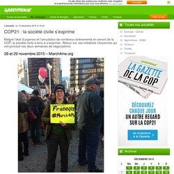 COP21 : la société civile s'exprime