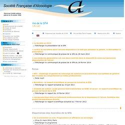 SFA - Société Française d'Alcoologie