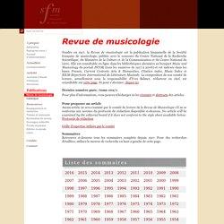Revue de musicologie
