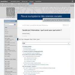 Noëmie_Société de l'information: quel savoir pour quel avenir?
