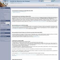 SOCIETE DE MEDECINE DES VOYAGES - 2007 - Recommandations de bonne pratique sur la Protection personnelle antivectorielle (PPAV).