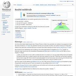 Société médiévale