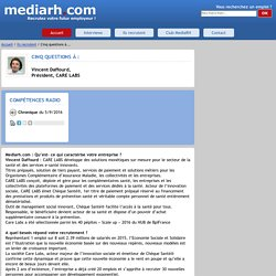 La société CARE LABS recrute et propose des job et offres d'emploi via MediaRH.com.
