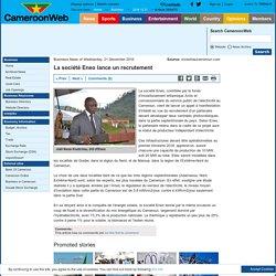 La société Eneo lance un recrutement