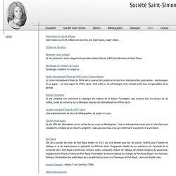 Société Saint-Simon - Liens