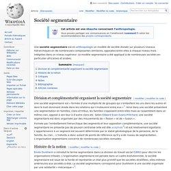 Société segmentaire