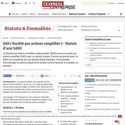 SAS ( Société par actions simplifiée ) - Statuts d'une SASU