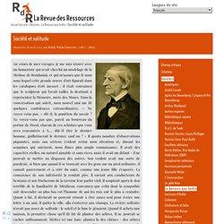 Emerson : Société et solitude