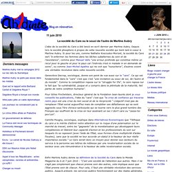 La société du Care ou le souci de l'autre de Martine Aubry - Blo