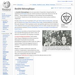 Société théosophique
